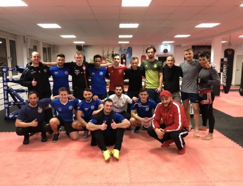 FSV Buckenberg beim Zirkeltraining im Sportzentrum Hück