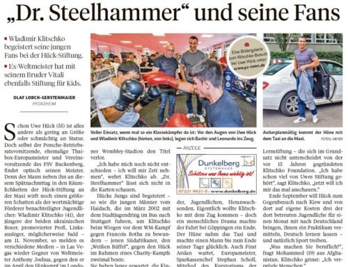 Am 27. Juli 2017 war Waldimir Klitschko zu Besuch in der Lernstiftung Hück