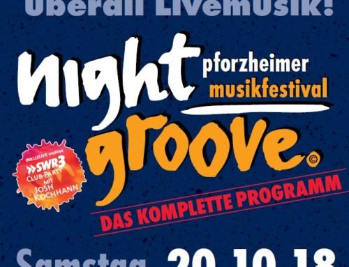 Der Pforzheimer Nightgroove 2018 am 20.10.2018 unterstützt die Lernstiftung Hück